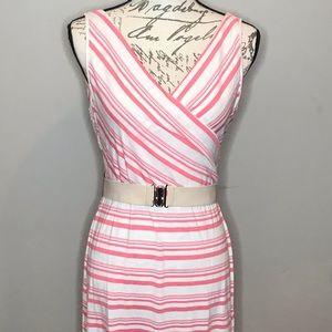 Amelia James Tangerine Striped Dress